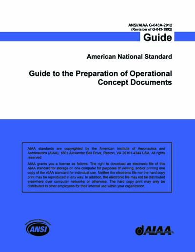 Ansi/aiaa g-043a-2012 guide to the preparation of operational.
