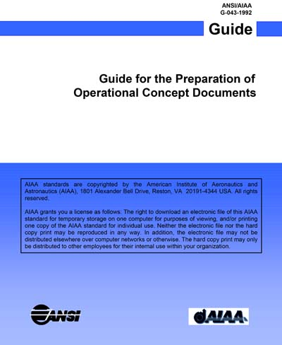 Guide for the preparation of operational concept documents (1993.