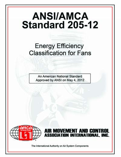 ANSI AMCA 205 12 Energy Efficiency Classification For Fans