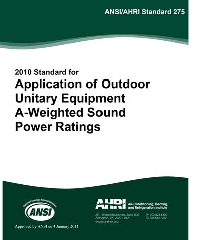 ANSI/AHRI 275-2010