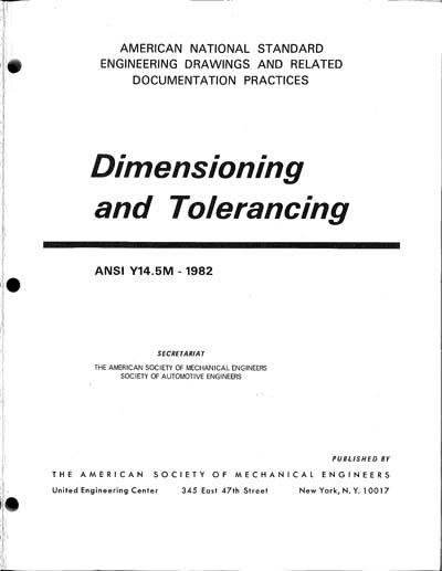 Asme Y145m 1982 Dimensioning And Tolerancing