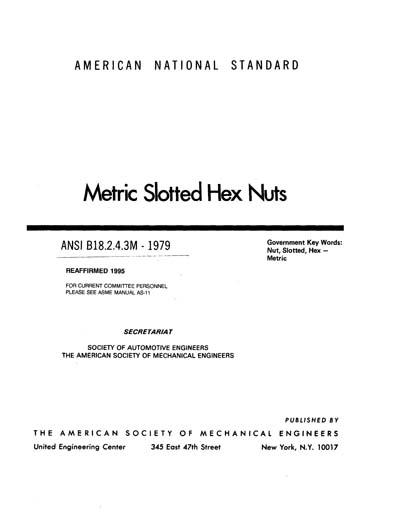 ANSI/ASME B18 2 4 3M-1979 (R2001)
