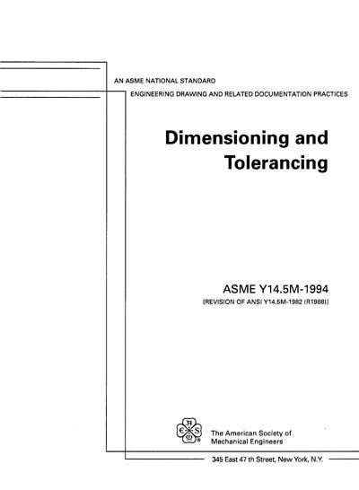 Y145m 1994 Dimensioning And Tolerancing
