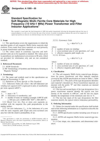ASTM A1009-00