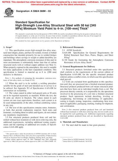 ASTM A588/A588M-03