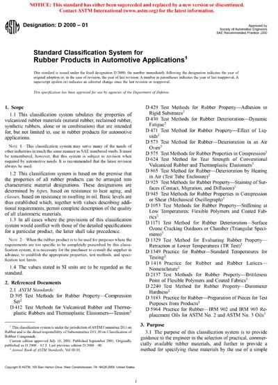 ASTM D2000-01