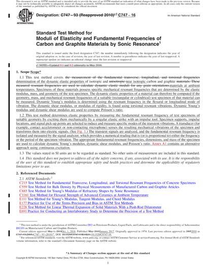 Astm C747 16 Red Standard Test Method For Moduli Of Elasticity