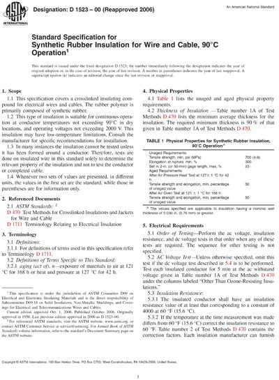 ASTM D1523-00(2006) - Standard Specification for Synthetic