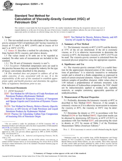 ASTM D2501-91(2005)