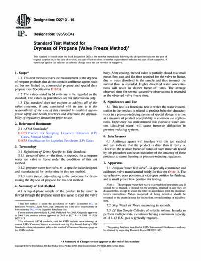 astm d2713 15 standard test method for dryness of propane valve