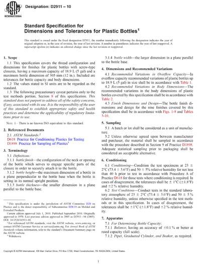 ASTM D2911-10