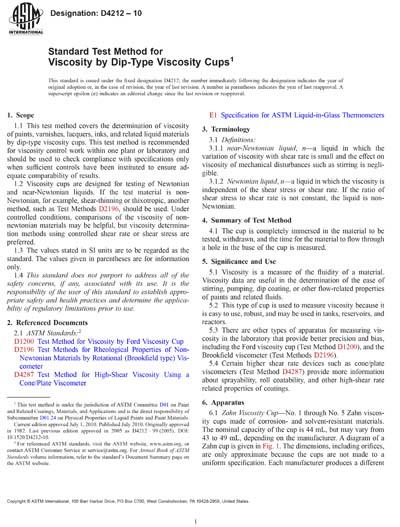 ASTM D4212-10