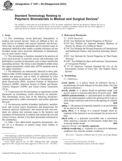 ASTM F1251-89(2003)