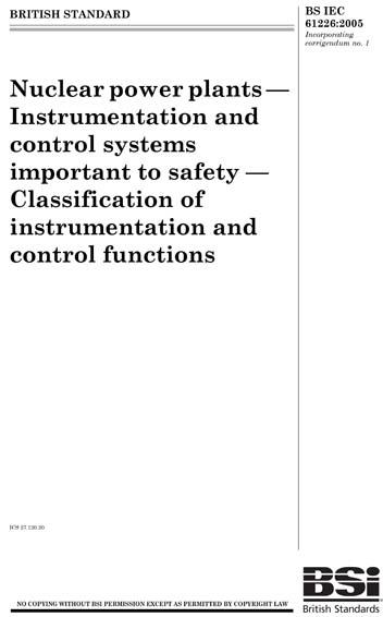 BS IEC 61226:2005