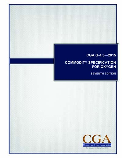 CGA G-4 3 (7th Edition) - Commodity Specification for Oxygen