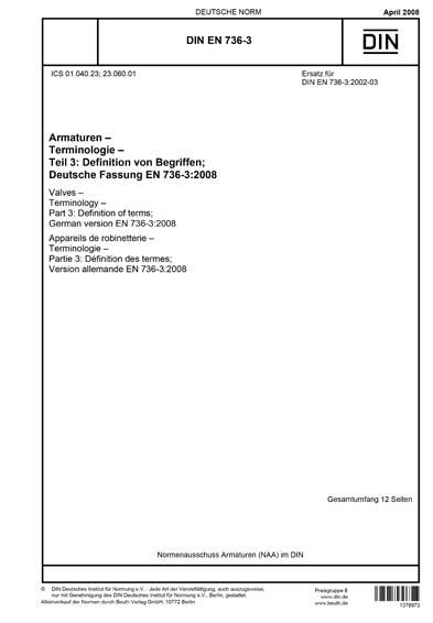 DIN EN 736-3:2008 DE
