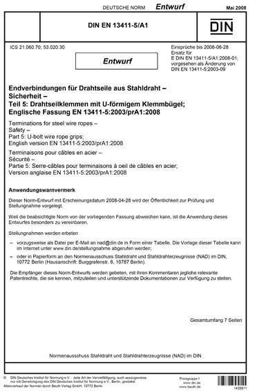 DIN EN 13411-5/A1:2008