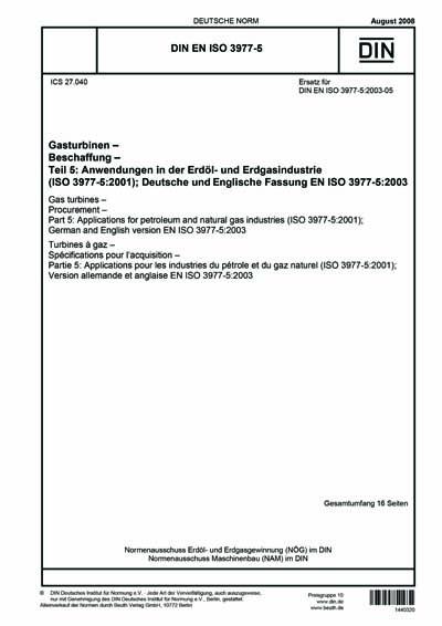 DIN EN ISO 3977-5:2008