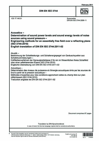 DIN EN ISO 3744:2011