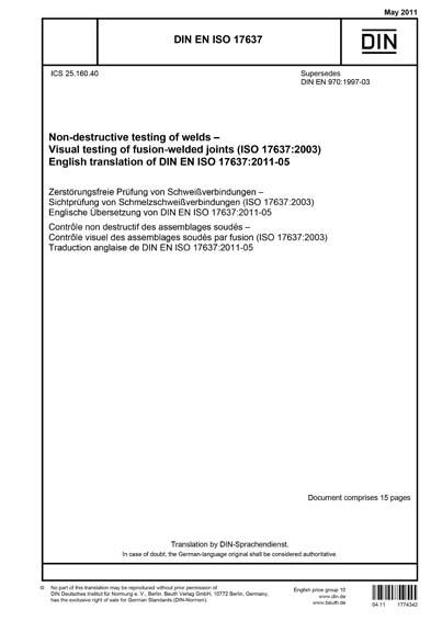 DIN EN ISO 17637:2011