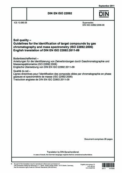 DIN EN ISO 22892:2011