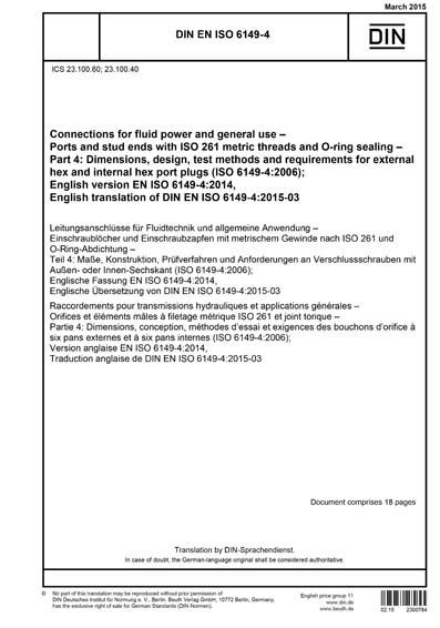 DIN EN ISO 6149-4:2015