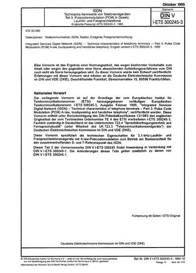 DIN V I-ETS 300245-3:1995