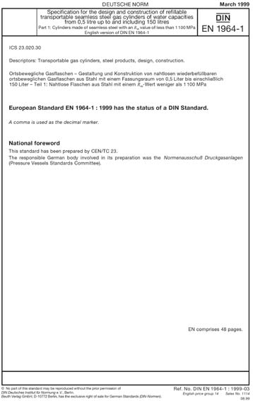 2930a5d6e2 DIN EN 1964-1 1999 - Specification for the design and construction ...