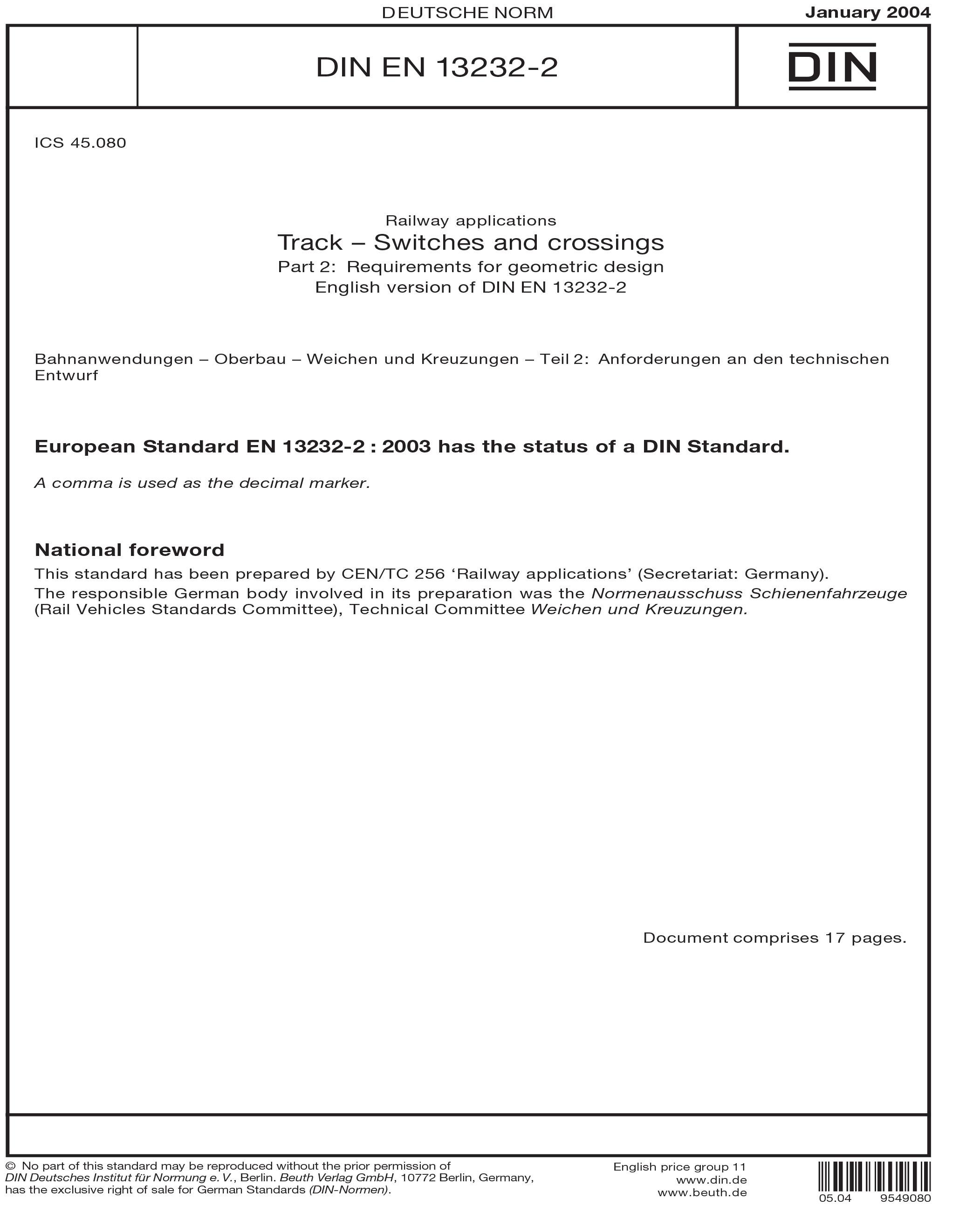 DIN EN 13232-2:2004
