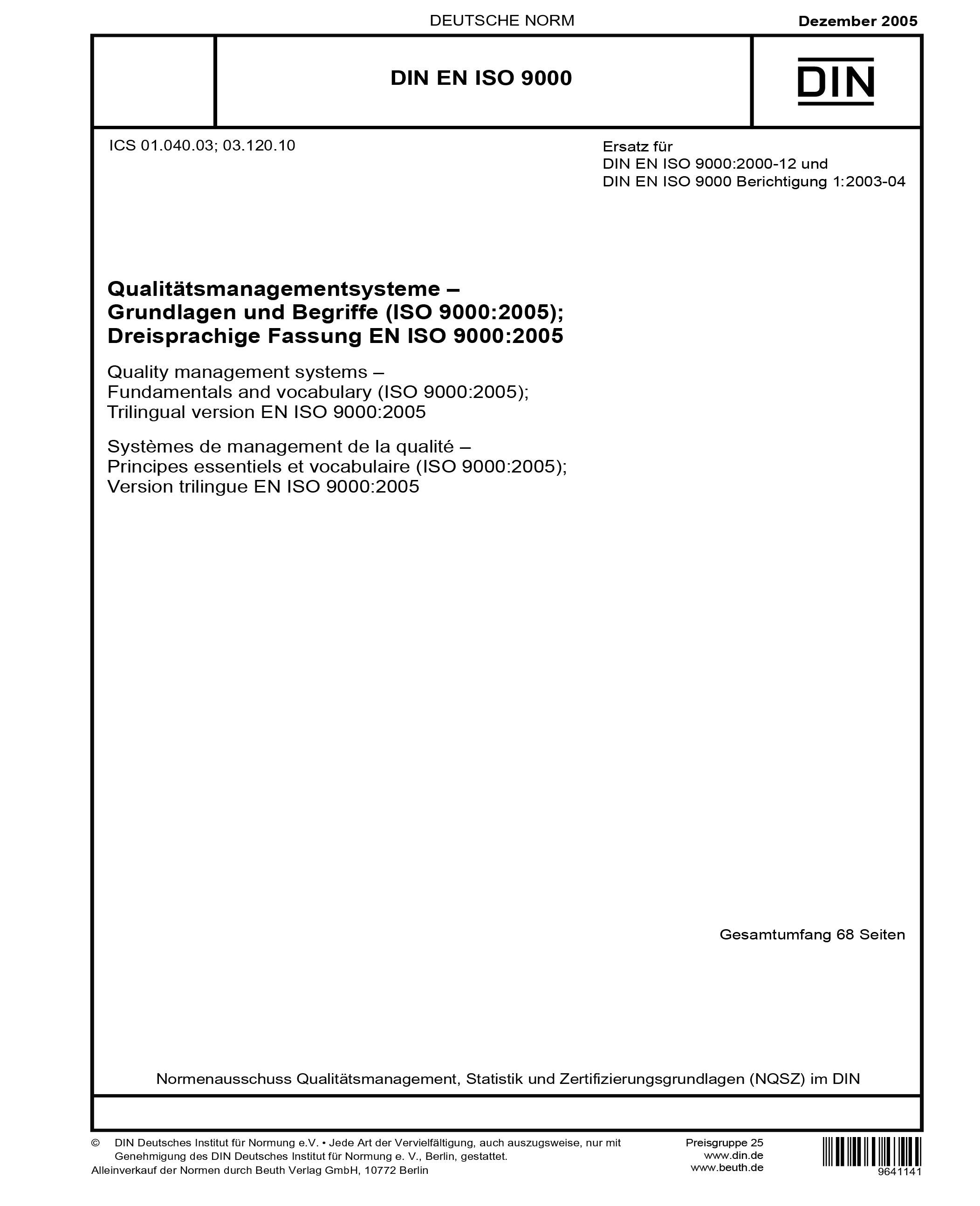 iso 9000 version 2005 pdf español