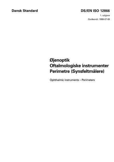 DS/EN ISO 12866:1999