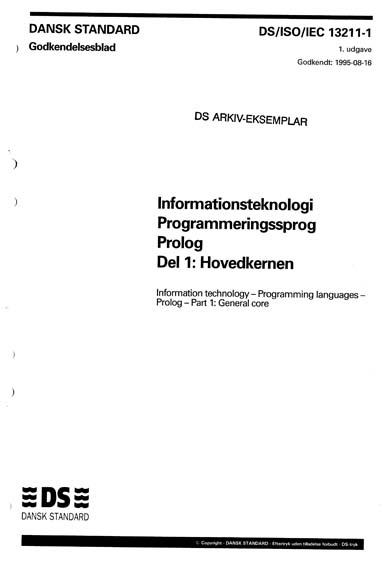 Information technology - Programming languages - Prolog - Part 1: General core - Corrigendum 2
