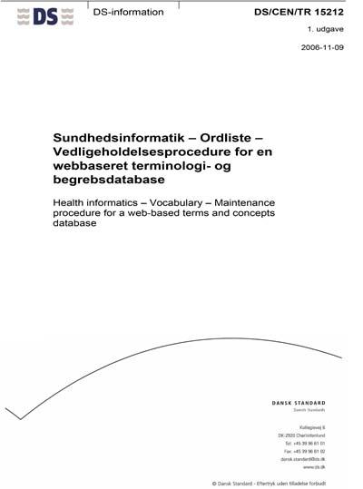 DS/CEN/TR 15212:2006