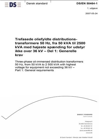 DS/EN 50464-1:2007