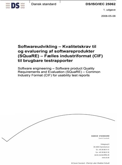 DS/ISO/IEC 25062:2008
