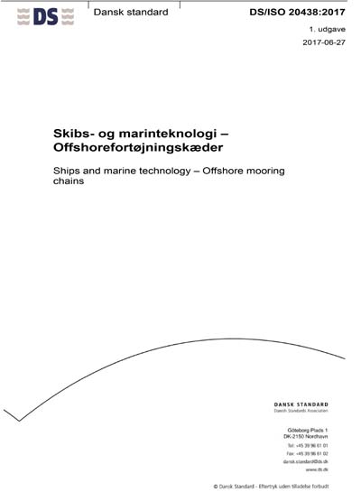 DS/ISO 20438:2017 - Ships and marine technology - Offshore mooring
