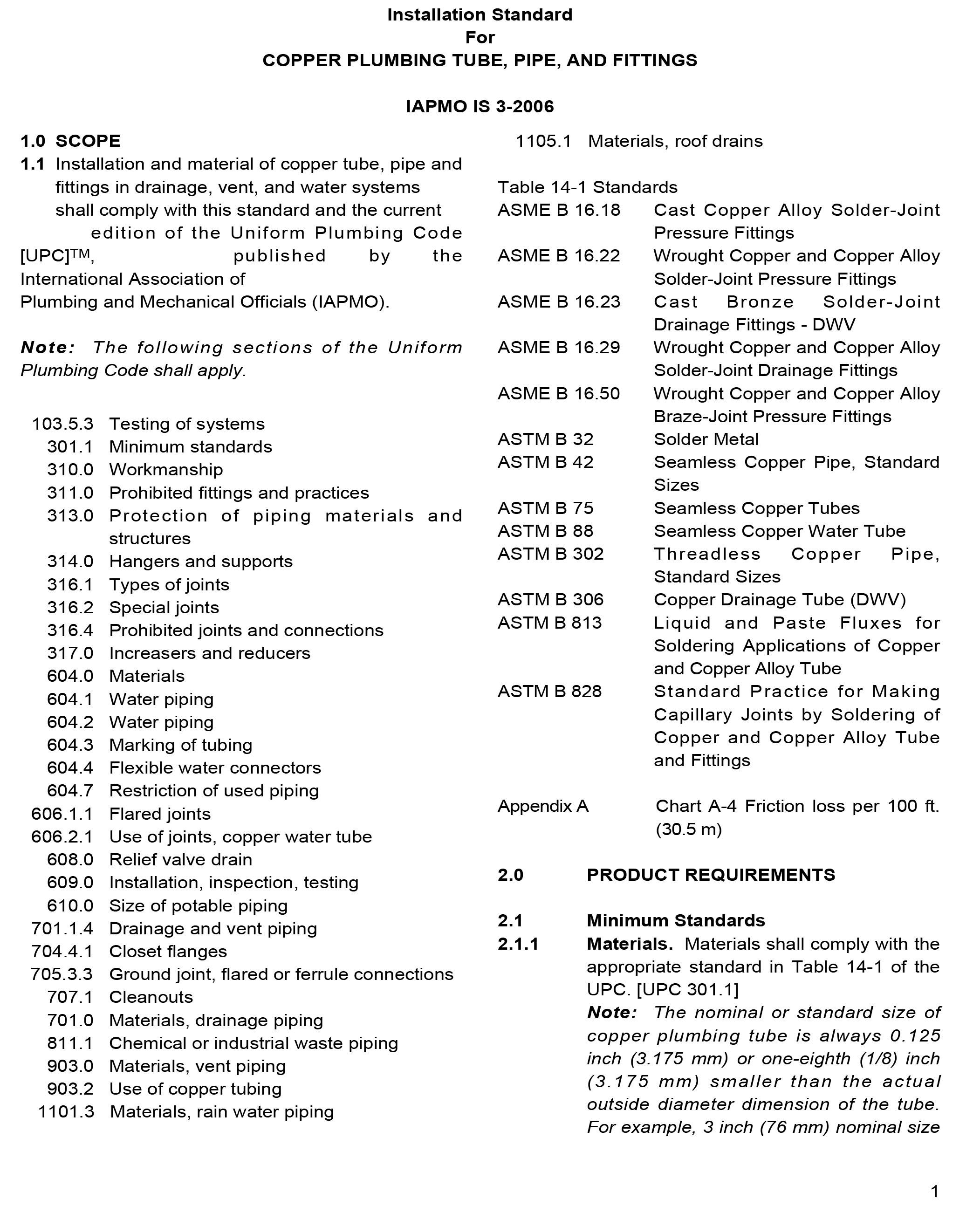 IAPMO IS 3-2006