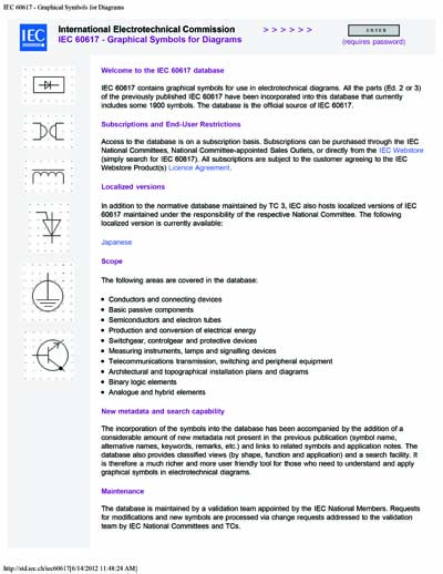 Iec 60617 Db 12m Ed 10 B2001 Graphical Symbols For Diagrams
