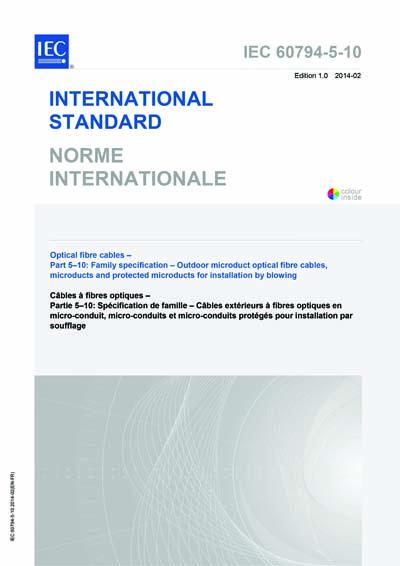 IEC 60794-5-10 Ed  1 0 b:2014 - Optical fibre cables - Part