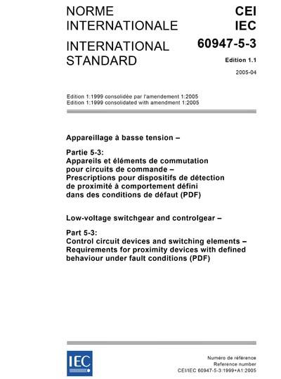 IEC 60947-5-3 Ed  1 1 b:2005