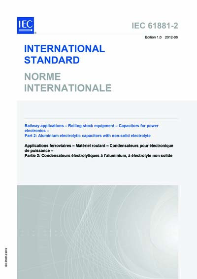 IEC 61881-2 Ed  1 0 b:2012 - Railway applications - Rolling