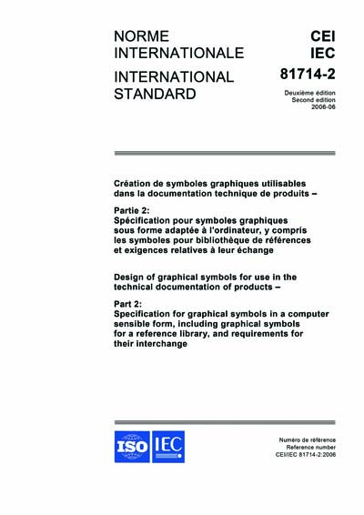 Iec 81714 2 Ed 2 0 B 2006 Design Of Graphical Symbols For Use In