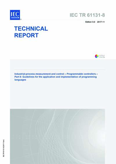 IEC/TR 61131-8 Ed  3 0 en:2017 - Industrial-process