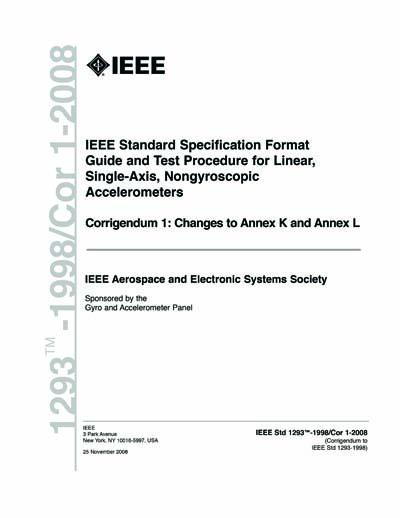 Ieee Std 1293 1998cor1 2008 Ieee Standard Specification Format
