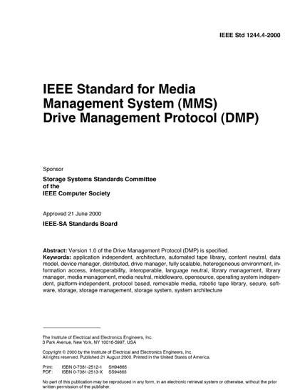 IEEE 1244 4-2000