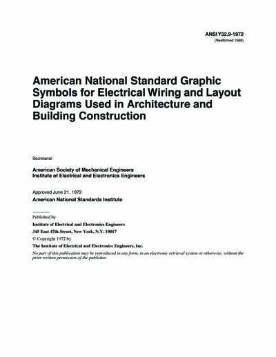 ieee ansi y32 9 1972 r1989 american national standard graphic symbols for electrical wiring. Black Bedroom Furniture Sets. Home Design Ideas
