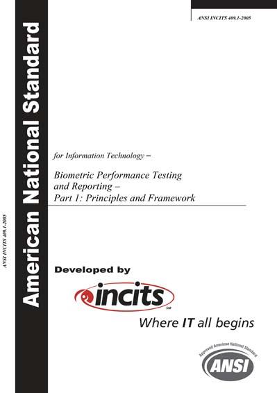 ANSI INCITS 409 1-2005 - Information Technology - Biometric