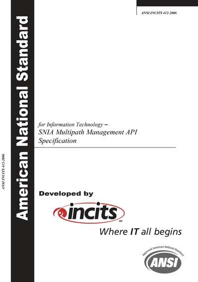 ANSI INCITS 412-2006