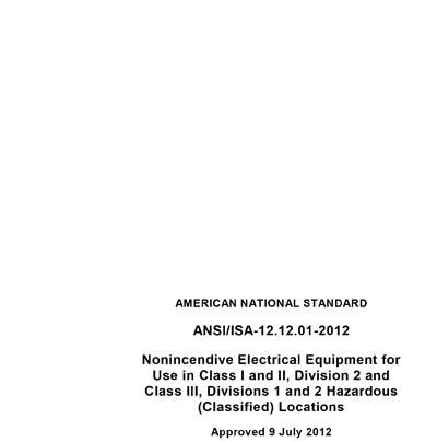 ANSI/ISA 12 12 01-2012