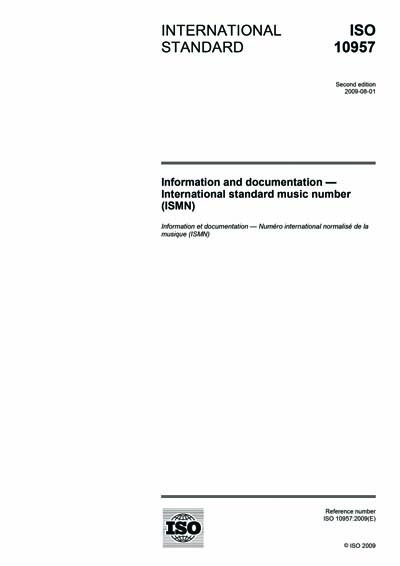 ISO 10957:2009 - Information a...